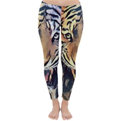 Tiger Animal Teeth Nature Design Classic Winter Leggings