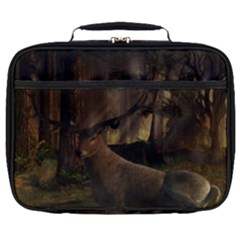 Mammal Nature Wood Tree Waters Full Print Lunch Bag by Simbadda
