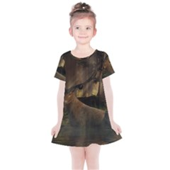 Mammal Nature Wood Tree Waters Kids  Simple Cotton Dress by Simbadda