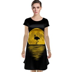 Moon Reflection Flamenco Animal Cap Sleeve Nightdress