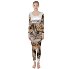 Kitten Mammal Animal Young Cat Long Sleeve Catsuit
