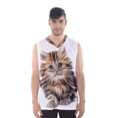 Kitten Mammal Animal Young Cat Men s Basketball Tank Top by Simbadda