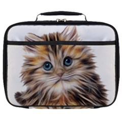 Kitten Mammal Animal Young Cat Full Print Lunch Bag by Simbadda