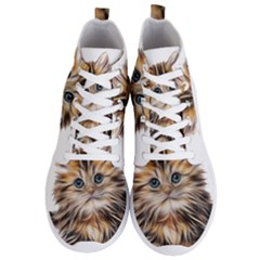 Kitten Mammal Animal Young Cat Men s Lightweight High Top Sneakers by Simbadda