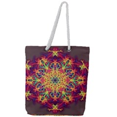 Joyful Living Full Print Rope Handle Tote (large) by aumaraspiritart