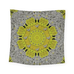 Sunshine And Silver Hearts In Love Square Tapestry (small) by pepitasart