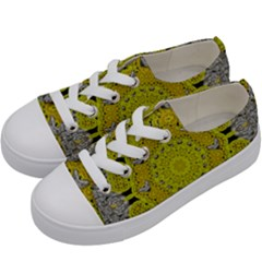Sunshine And Silver Hearts In Love Kids  Low Top Canvas Sneakers by pepitasart