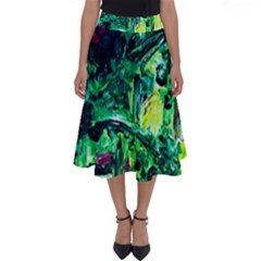 Old Tree And House With An Arch 3 Perfect Length Midi Skirt by bestdesignintheworld