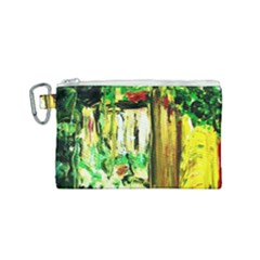 Old Tree And House With An Arch 4 Canvas Cosmetic Bag (small) by bestdesignintheworld