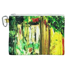 Old Tree And House With An Arch 4 Canvas Cosmetic Bag (xl) by bestdesignintheworld