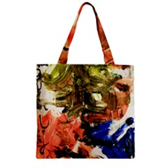 Pagoda And Calligraphy Zipper Grocery Tote Bag by bestdesignintheworld
