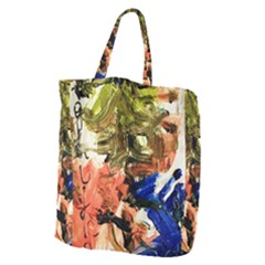 Pagoda And Calligraphy Giant Grocery Zipper Tote by bestdesignintheworld