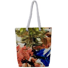 Pagoda And Calligraphy Full Print Rope Handle Tote (small) by bestdesignintheworld