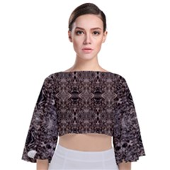 Coli Tie Back Butterfly Sleeve Chiffon Top by MissUniqueDesignerIs