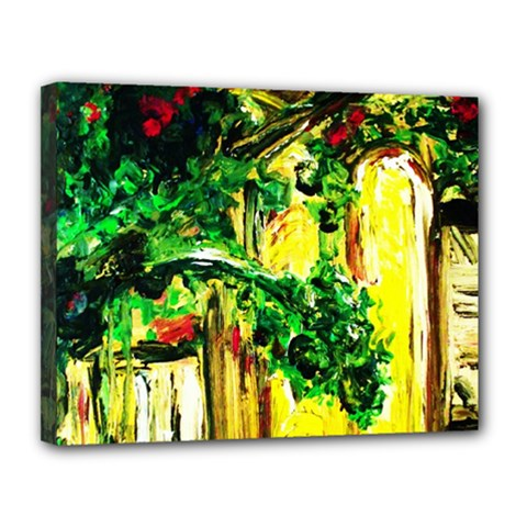 Old Tree And House With An Arch 2 Canvas 14  X 11  by bestdesignintheworld
