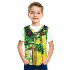 Old Tree And House With An Arch 2 Kids  Sportswear by bestdesignintheworld