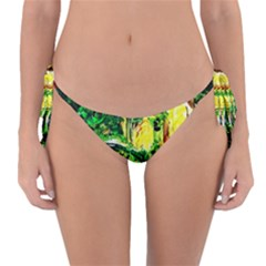 Old Tree And House With An Arch 2 Reversible Bikini Bottom