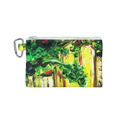 Old Tree And House With An Arch 2 Canvas Cosmetic Bag (small) by bestdesignintheworld