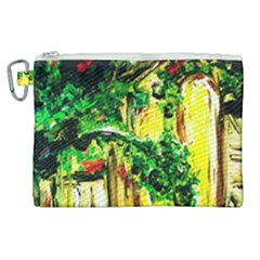 Old Tree And House With An Arch 2 Canvas Cosmetic Bag (xl) by bestdesignintheworld