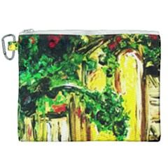 Old Tree And House With An Arch 2 Canvas Cosmetic Bag (xxl) by bestdesignintheworld