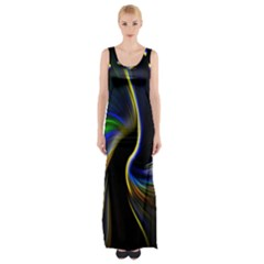 Church Abstract Maxi Thigh Split Dress by bywhacky