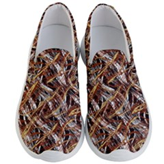 Colorful Wavy Abstract Pattern Men s Lightweight Slip Ons by dflcprints