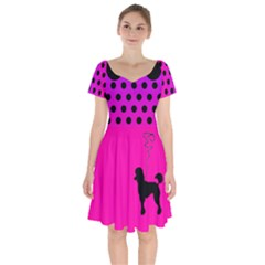 Ghost Gear   Ombre Poodle   Short Sleeve Bardot Dress by GhostGear