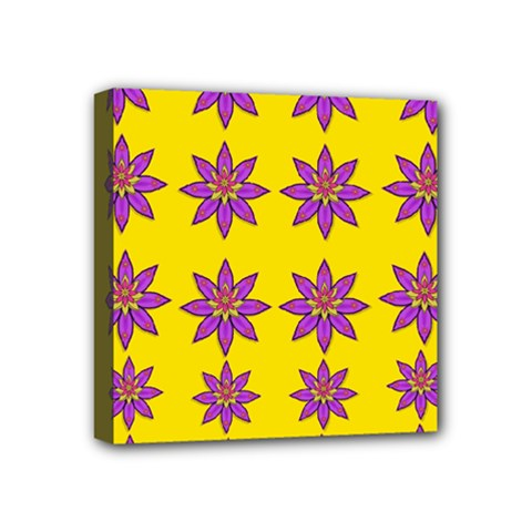 Fantasy Flower In The Happy Jungle Of Beauty Mini Canvas 4  X 4  by pepitasart