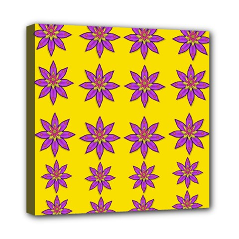 Fantasy Flower In The Happy Jungle Of Beauty Mini Canvas 8  X 8  by pepitasart
