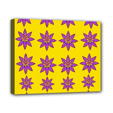 Fantasy Flower In The Happy Jungle Of Beauty Canvas 10  X 8  by pepitasart