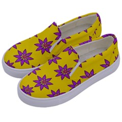 Fantasy Flower In The Happy Jungle Of Beauty Kids  Canvas Slip Ons by pepitasart