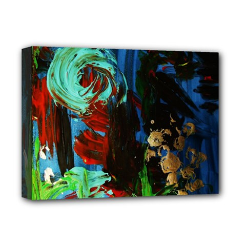 Night At The Foot Of Fudziama 2 Deluxe Canvas 16  X 12   by bestdesignintheworld