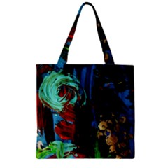 Night At The Foot Of Fudziama 2 Zipper Grocery Tote Bag by bestdesignintheworld