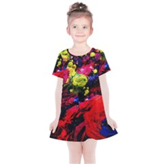 Night, Pond And Moonlight 1 Kids  Simple Cotton Dress
