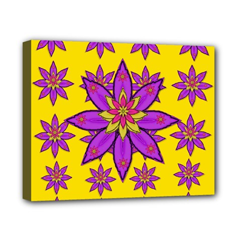 Fantasy Big Flowers In The Happy Jungle Of Love Canvas 10  X 8  by pepitasart