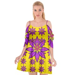 Fantasy Big Flowers In The Happy Jungle Of Love Cutout Spaghetti Strap Chiffon Dress by pepitasart