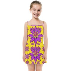 Fantasy Big Flowers In The Happy Jungle Of Love Kids Summer Sun Dress by pepitasart