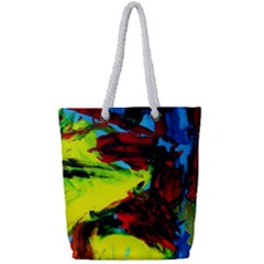 3 Full Print Rope Handle Tote (small) by bestdesignintheworld