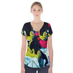 Buffalo Vision Short Sleeve Front Detail Top by bestdesignintheworld