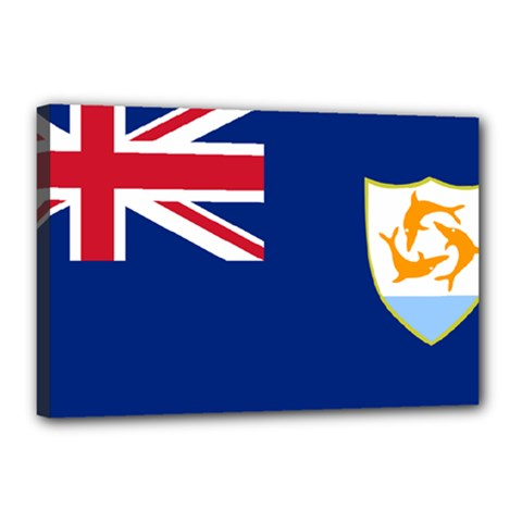 Flag Of Anguilla Canvas 18  X 12  by abbeyz71