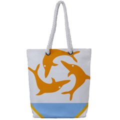 Coat Of Arms Of Anguilla Full Print Rope Handle Tote (small)
