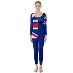 Flag Of Ascension Island Long Sleeve Catsuit by abbeyz71