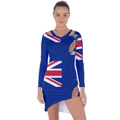 Flag Of Ascension Island Asymmetric Cut Out Shift Dress