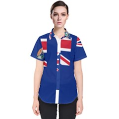 Flag Of Ascension Island Women s Short Sleeve Shirt