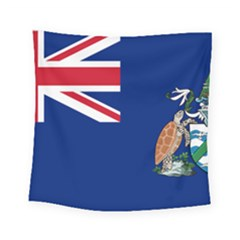 Flag Of Ascension Island Square Tapestry (small)