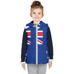 Flag Of Ascension Island Kid s Hooded Puffer Vest
