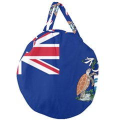 Flag Of Ascension Island Giant Round Zipper Tote