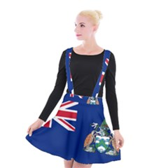 Flag Of Ascension Island Suspender Skater Skirt