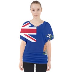 Flag Of Ascension Island V Neck Dolman Drape Top