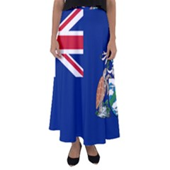 Flag Of Ascension Island Flared Maxi Skirt